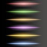 Partículas que brillan intensamente multicoloras de la luz stock de ilustración