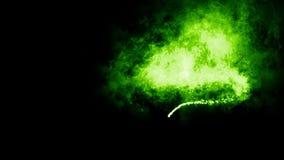 Partículas verdes que vuelan ilustración del vector