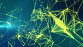 Partículas y conexiones ilustración del vector