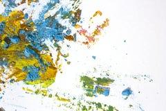 Partículas y pintura en colores pastel quebradas Imagenes de archivo