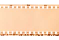 Part of 35 mm film. Close-up isolated over white background Stock Image