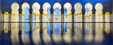 Part of Abu Dhabi mosque Royalty Free Stock Images