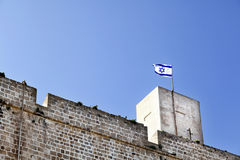 Fort & Israel Flag Stock Image