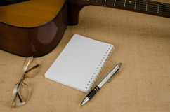 Part of acoustic guitar Royalty Free Stock Images