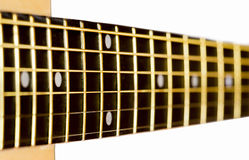 Part of an acoustic guitar Stock Photo