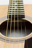 Part of an acoustic guitar Royalty Free Stock Image