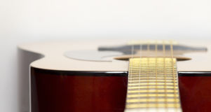Part of an acoustic guitar Stock Photography