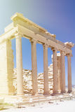 Part of acropolis in athenes. With colonnade Royalty Free Stock Image