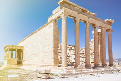 Part of acropolis in athenes Stock Image