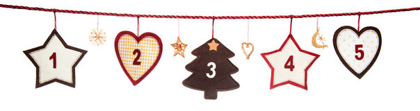 Part of Advent calendar Stock Photography