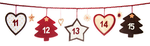 Part of Advent calendar Royalty Free Stock Photo
