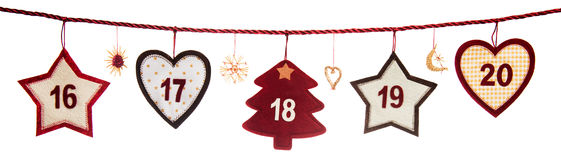 Part of Advent calendar Royalty Free Stock Photos