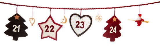 Part of Advent calendar Royalty Free Stock Images
