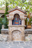 Part of Agios Stefanos St Stefan Monastery on Meteora cliff, Greece Royalty Free Stock Photo