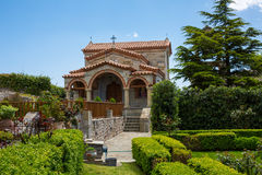 Part of Agios Stefanos St Stefan Monastery on Meteora cliff, Greece Royalty Free Stock Photography
