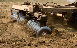 Part of agricultural tractor Stock Images