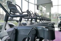 Part of Airwalk machine at fitness gym. Royalty Free Stock Photo