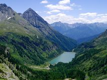 Part of the Alps mountain massif. Royalty Free Stock Images