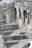 Part of Amphitheatre in town of Nimes, France Royalty Free Stock Photography