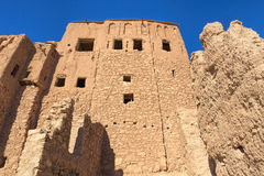 Part of the ancient Ait Benhaddou village in Morocco Royalty Free Stock Photography