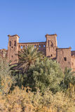 Part of the ancient Ait Benhaddou village in Morocco Royalty Free Stock Photos