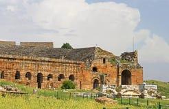 Part of ancient amphitheater in Hierapolis, Turkey Stock Photo
