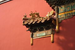 Part of ancient Chinese royal building Royalty Free Stock Image