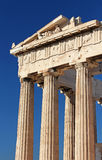 Part of ancient Parthenon at the Acropolis, Athens Royalty Free Stock Photos