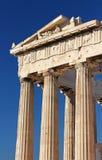 Part of ancient Parthenon at the Acropolis, Athens Royalty Free Stock Photos