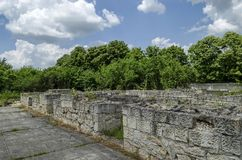 Part of Ancient Roman town peristyle complex Abritus Stock Image