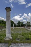 Part of Ancient Roman town peristyle complex Abritus royalty free stock photography