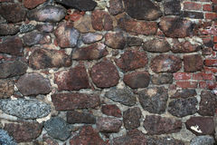 Part of an ancient stone wall Royalty Free Stock Photo