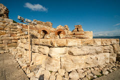 Part of the ancient stone wall in Nessebar, Bulgaria Royalty Free Stock Images