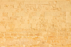 Part of ancient temple's wall in Egypt. Part of ancient temple's wall as background Royalty Free Stock Images