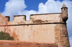 Medieval city wall of casbah in Rabat, Morocco stock photo