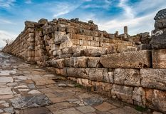 Part of ancient wall and road in Ephesus, Turkey. The ancient city is listed as a UNESCO World Heritage Site. Selcuk, Izmir stock images