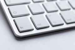 Part angle of light keyboard Royalty Free Stock Photos