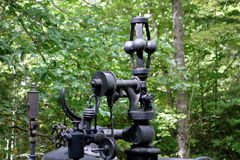 Part of an antique mobile steam-powered engine Royalty Free Stock Images