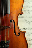 Part of an antique violin Royalty Free Stock Photo