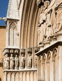 Part of arch cathedral. Stock Photos