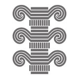 Part of the architectural column. Monochrome. The post arches or old buildings. Fragment Royalty Free Stock Photos