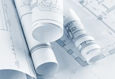 Part of architectural project Stock Images