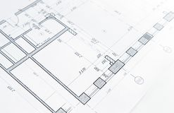 Part of architectural project royalty free stock photo