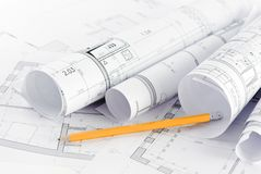 Part of architectural project royalty free stock photography