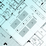 Part of architectural project Royalty Free Stock Photos