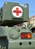 Part of an armoured military vehicle stock photo