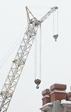 Part of an arrow of the elevating crane Royalty Free Stock Images