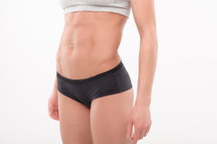 Part of the athletic female body Royalty Free Stock Images
