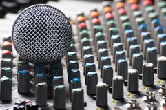 Part of an audio sound mixer Royalty Free Stock Images