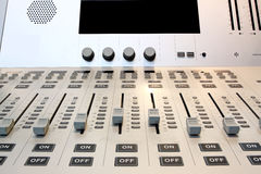 Part of an audio sound mixer Stock Photo
